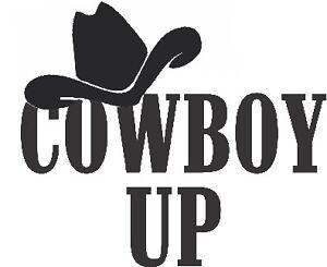 cowboy up decal sticker ute BNS truck car van 18x20cm