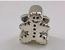 NEW AUTHENTIC CHAMILIA STERLING SILVER 925 GINGERBREAD MAN BEAD CHARM #GA-40