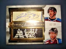 12/13 The Cup Joe Sakic Ray Bourque Scripted Stick Patch Auto /15 RARE