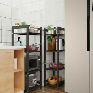 3/4/5 Tier Kitchen Bakers Rack Utility Microwave Oven Stand Storage Cart Shelf