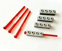 LEGO 4x Dart/ Missile Projectile & Launcher - Spring Shooter Part no. 15301c01
