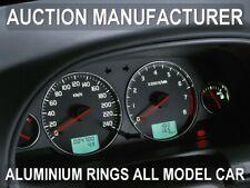 Volvo S40 / V40  2000-2004    Dash Instrument Chrome Rings Polished Aluminium x4