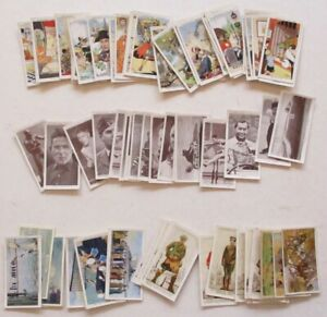 CIGARETTE CARDS on themes: MILITARY, HOWLERS and SPEED