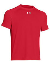 Under Armour Mens Size Large Locker Short Sleeve Loose Active Shirt, Red (600)