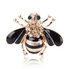 Women Delicate Little Bee Crystal & Rhinestone Pin Brooch Fashion Accessory HL
