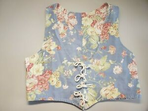 vest, waistcoat, outlander, floral, jumps, lacing, colonial, medieval, costume