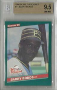 1986 Barry Bonds Donruss Rookies RC... Graded BGS 9.5 Gem Mint