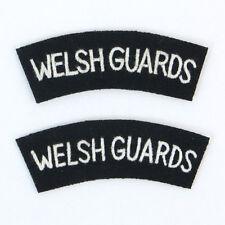 British Army WELSH GUARDS REGIMENT Shoulder Titles Flashes - WW2 Uniform Patch