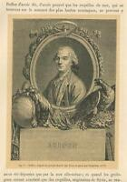ANTIQUE GEORGES-LOUIS LECLERC COMTE DE BUFFON MATH NATURALIST COSMOLOGIST PRINT