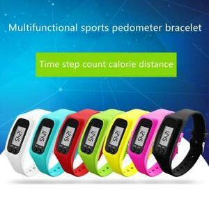 Digital Pedometer Run Step Walking Distance Calorie Counter Watch Bracelet