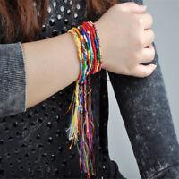 10PC Multi-Color String Lucky Colorful Friendship Braid Strand Handmade Bracelet