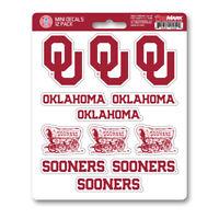 New NCAA Oklahoma Sooners Premium Vinyl Die Cut Mini Decal / Sticker Pack