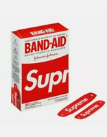 Supreme x Band Aid Adhesive Bandages (Box of 20) Red 2019 SS Week 2 Sold Out
