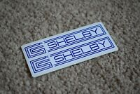 Cobra Shelby Mustang Logo Emblem Car Racing Auto Decal Stickers Blue 50mm