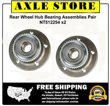 2 New Wheel Hub Bearing Assembly for Volvo 850 C70 S70 V70 ABS Rear Pair
