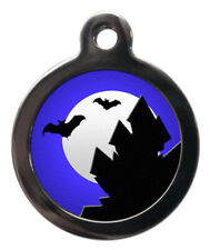Pet Id tag - B 00006000 ats Halloween Picture dog or cat Tag 32mm or 24mm personalised