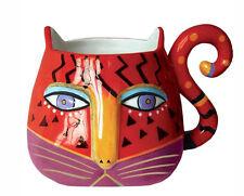 # New Laurel Burch Mug Cup Fantastic Cats Kitten Figure Coffee Tea 16 Oz