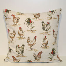 "Vintage Hens 18"" Square Cushion Cover"