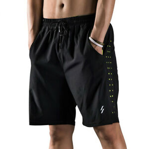 Men Running Shorts Quick Drying Breathable Active Training Exercise Jogging H3V9