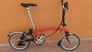 Btompton M6R Red & black 2019 folding bike , good condition , World shipping.