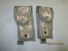 Lot of 2   Army ACU Digital Camo MOLLE II 9MM Single MAG Pistol Magazine Rangers