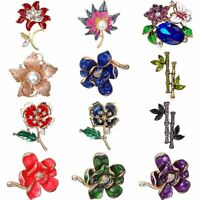 New Colorful Crystal Flower Brooch Pin Collar Women Jewelry Prom Costume Gift