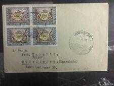 1943 Luxembourg Besetzt von Deutschland Abdeckung zu Dudelange