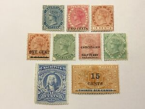 old stamps  MAURITIUS    x 9