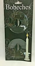 """Set of 2 Bobeches 2.6"""" D Glass Taper Candle Ring Clear - Hosley Candle Co.   U3"""