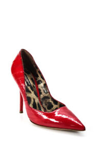Dolce & Gabbana Womens Eel Skin Pointed Toe Pumps Red Size 38