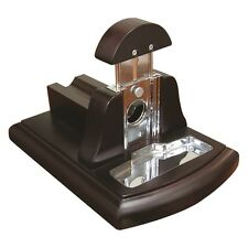 Walnut Finish Tabletop Table Top Desktop 54 Ring Gauge Cigar Cutter With Ashtray