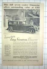 1936 Armstrong Siddeley Long Seventeen Limousine, £585