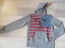 UNCLE SAM SPORTS Kapuzenpullover Gr. S grau rot blau Pulli Pullover Sweatshirt