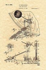 Patent Print - Bass Drum Pedal 1938 / Ludwig Speed King - Ready To Be Framed!