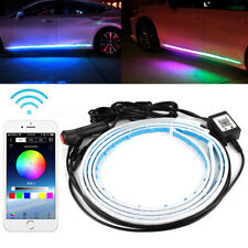 RGB Car Flexible LED Door Side Strip Light Neon Lamp Phone APP Control Kit 12V