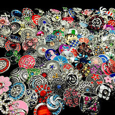 10pcs/pack mix styles womens rhinestone metal snaps button Snap Jewelry Charms
