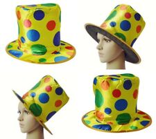New Clown Top Hat Polka Dot Rainbow Circus Magician Funny Halloween Costume Hats