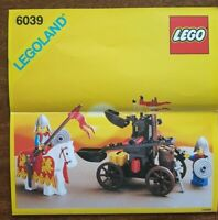 Lego 6039 Twin Arm Launcher Vintage Instructions very rare