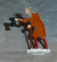 "Vintage Heinrichsen German Flat Lead ""Man Holding Hat"" Near Mint Free Ship Lot C"