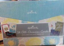 Hallmark 48pc All Occasion greeting cards w/card organizer NIB 24 cards/24 envel