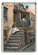 St Ives -Very Old Cornish Image- In the Digey - Jumbo Fridge Magnet 90mm x 60mm