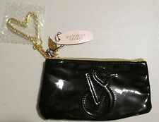 **New With Tag*Victoria's Secret Angel Black Patent Leather Wristlet~Gold Heart
