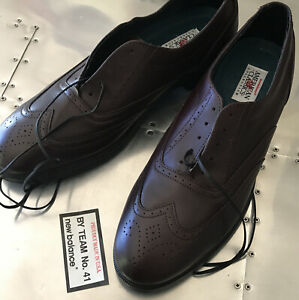 "NEW BALANCE 907 ""Walking Wave"" Brown Oxford Wingtips Men's Size 13 AA • MK907CD"