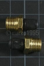 "[x2] 1/4"" NPT MPT Brass Air Compressor Tank Fill Valve Schrader NEW"