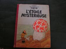 bd  de collection tintin  l'etoile  mysterieuse  1947