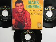 LOT OF 4 ' MARK DINNING ' HIT 45's +1P(Copy)[A Star Is Born]   THE 50's&60's!