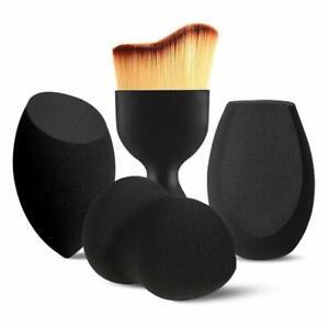 Makeup Sponges w/ Kabuki Contour Brush, Beauty Sponge Blenders w/ 3 Shapes