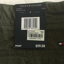 TOMMY HILFIGER Green Four Pocket Women's Crop Pants Size 8 NWT $60