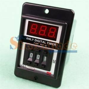 ONE ASY-3D 1-999 Minute / Seconds AC 110V / 220V Power on Delay Timer Time Relay