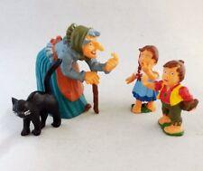 Hänsel und Gretel Hexe + Katze 4 x Märchen Figuren Lebkuchen Hexenhäuschen Neu